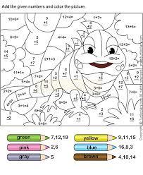 first grade math coloring worksheets free first grade math