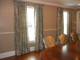 gorgeous dining room curtains silver blue with cream toned