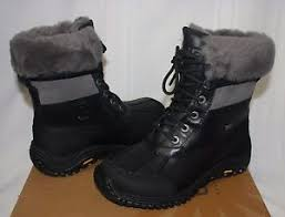 ugg s adirondack ii waterproof boot ugg s adirondack ii black grey waterproof boots with box