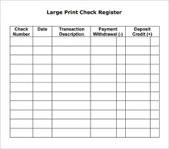 free printable check register template check register template 6 free printable check register letter