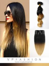vpfashion extensions two colors ombre clip in hair extensions m0127a m0127a