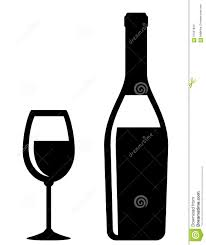 champagne bottle outline champagne bottle and glass icon stock vector image 57657843