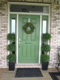 painting front door and trim same color with sidelights doors