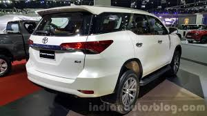 toyota new 2016 toyota fortuner rear quarter at 2015 thailand motor expo