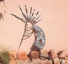 Home Sculpture Decor Handmade Garden Art Home Decor Outdoor Sculpture Kokopelli