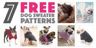 seven free dog sweater patterns the broke dog