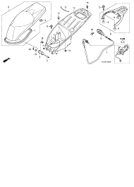 2010 honda sh150i seat luggage box parts best oem seat