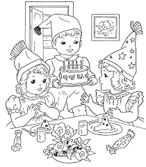 birthday party coloring page free download