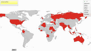 Algeria World Map Timeline Of Wars And Armed Conflicts Since 1946 Youtube
