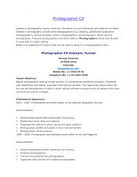 cover letter photography resume objective photography resume