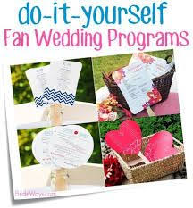 how to make your own wedding programs diy ornate vintage paddle fan wedding program template add your