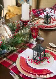 festive plaid christmas tablescape plaid christmas plaid and