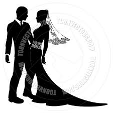 a couple dancing tango cartoon clipart vector toons bride and groom wedding couple silhouette by geoimages toon
