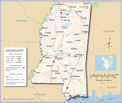 State Map Of Tennessee by Reference Map Of Mississippi Nations Online Project