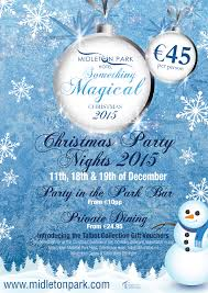 upcoming events midleton park hotel christmas party