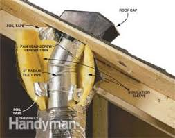 Bathroom Fan Exhaust Venting Exhaust Fans Through The Roof Family Handyman