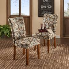 home decorators collection leaves print side chair set of 2