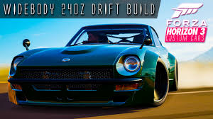 custom nissan 240z 761hp 3 6 litre i6 240z widebody drift build forza horizon 3