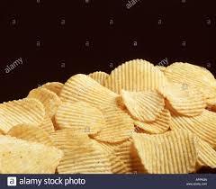 ripple chips up ripple cut fresh salted potato chips stock photo
