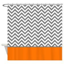 amazon com cafepress gray chevron pattern orange stripe shower