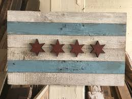 Chicaho Flag Waldron Bros Custom Art Furniture And Signs Reclaimed Barn