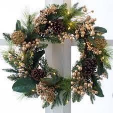 pre lit wreaths hayneedle