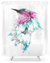 Science Shower Curtains Society6 Hummingbird Shower Curtains Home Design Ideas And Pictures