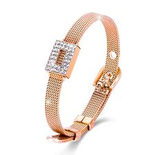 crystal buckle bracelet images Discount spring menton ezil mothers day gifts 7 quot belt shape luxury