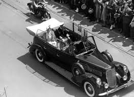 king george vi king george vi and queen elizabeth in car city of vancouver