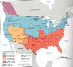 map of usa showing southern states slavery project