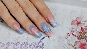 acrylic nails with royal gel ornaments