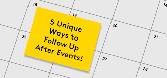 5 unique ways to follow up after events summitsync s event