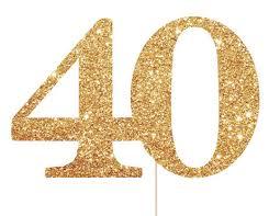 40 cake topper 40 cake topper 40th birthday decorations 40th birthday cake