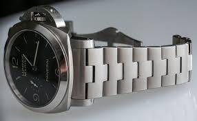 titanium bracelet watches images Panerai luminor marina 1950 3 days automatic pam328 on bracelet