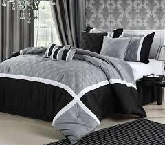 White Gray Comforter Black White And Gray Comforter Set Home Design Ideas