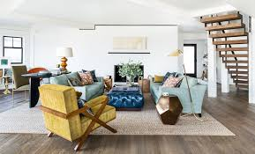 Light Blue Tufted Ottoman Mustard Furniture With Midcentury Living Room Also Area Rug