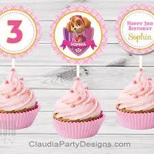 paw patrol skye cupcake toppers paw patrol skye party claudia