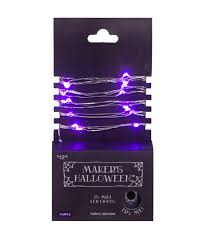 maker u0027s halloween 25 count purple led lights with silver wire joann