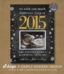 modern new years cards new years pregnancy announcement card christmas card