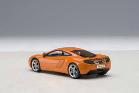 orange mclaren rear highly detailed autoart mclaren mp4 12c volcano orange 56006 die