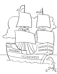 good free thanksgiving coloring pages mayflower ship holidays