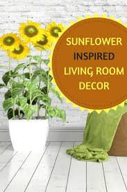 Sunflower Home Decor by Sunflower Living Room Decor Ideas We Love Color And Style
