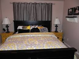Black And White Bedroom With Yellow Accents Yellow Grey And White Bedroom Top Bedroom Comfortable Bedrooms