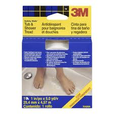 3m safety walk tub and shower tread clear 1 inch by 180 inch