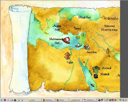 middle east map moses time the middle east caption o a r s