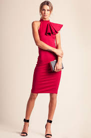 memdalet sleeveless red bodycon midi cocktail party dress 64
