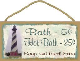 Nautical Bath Decor Amazon Com Lighthouse Bath 5 Cents Soap And Towel Extra Bathroom