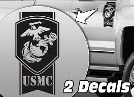Ford F150 Truck Decals - product military army usmc globe stripes truck bed side decal