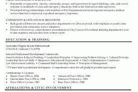 Chief Of Police Resume Examples by Engine Captain Resume Example Reentrycorps