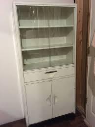 vintage artcrest metal kitchen cabinet hutch mid century local